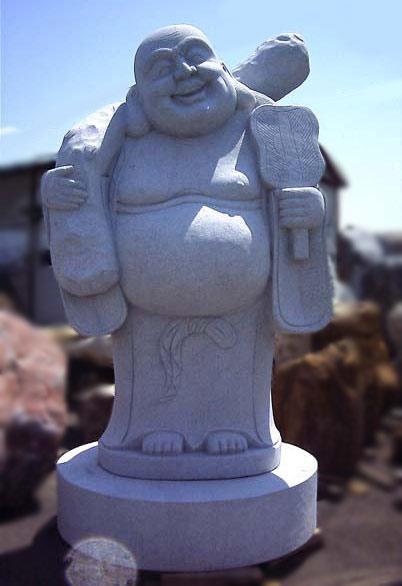 布袋 七福神 石仏 御影石彫刻 仏像販売 石像 仏像 招福 縁起物