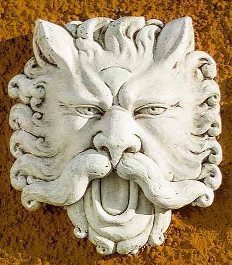 イタリア製レリーフ サティロのマスク PapiniAgostino Art.501