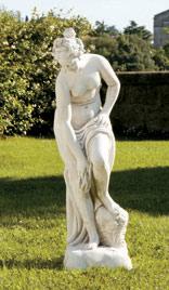 イタリア製ビーナス像(ガーデン オーナメント)湯浴みするヴィーナス(小) ITALGARDEN ST015100 イタルガーデン社 石像 女性像