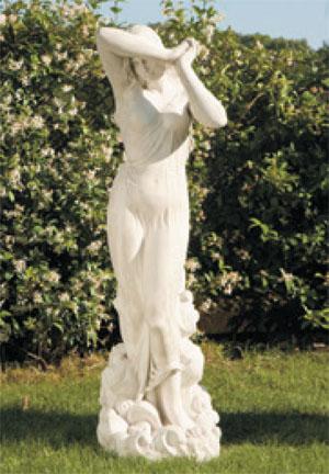 イタリア製ビーナス石像(ガーデン オーナメント) 恥じらい 【商品番号:y-st0191】