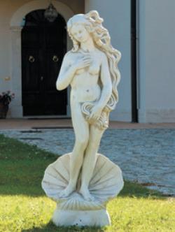 イタリア製ビーナス石像(ガーデン オーナメント) ヴィーナスの誕生(大)【商品番号:y-st0193】