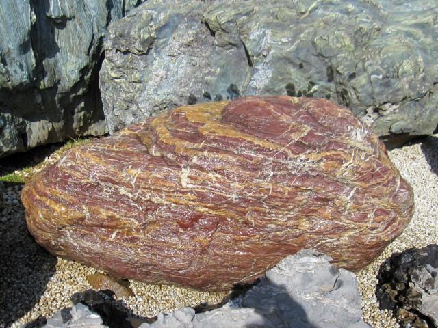 赤石 庭石 景石 銘石 y-ni114