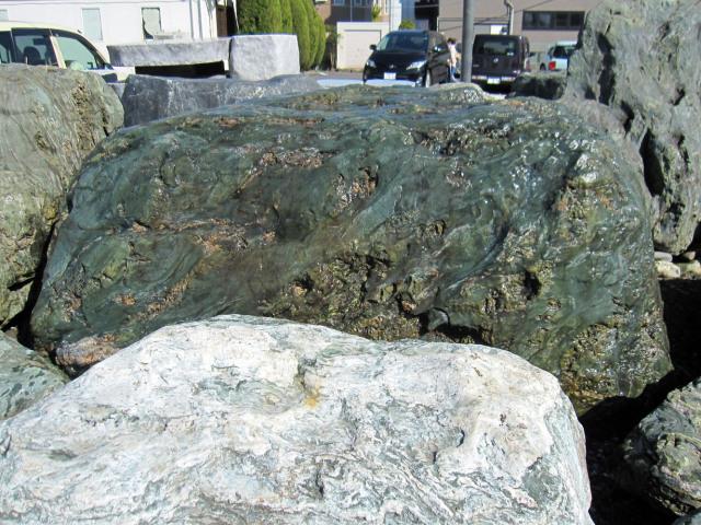 四国 青石伝統的な庭園もモダンなお庭にも馴染む庭石庭石 銘石 景石