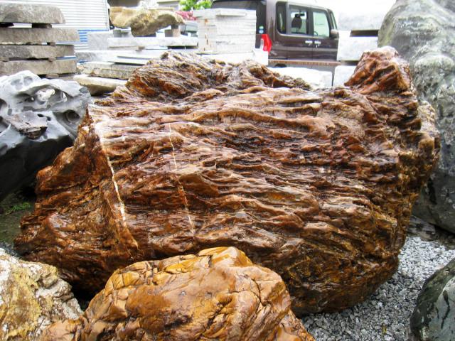 木化石 026庭石 珪化木