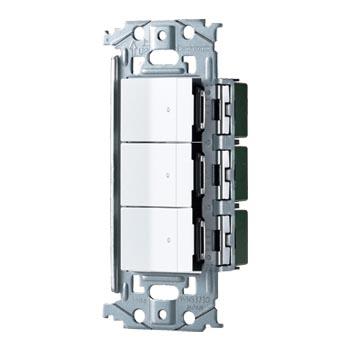 パナソニック 格安激安 Panasonic SO-STYLE スイッチ マットホワイト WNSS51555W ほたるスイッチC×3 全店販売中 取付枠セット品