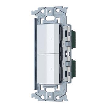 パナソニック Panasonic SO-STYLE ロングハンドルスイッチ マットホワイト 新作続 格安 価格でご提供いたします ほたるスイッチC×2 取付枠セット品 WNSS53595W