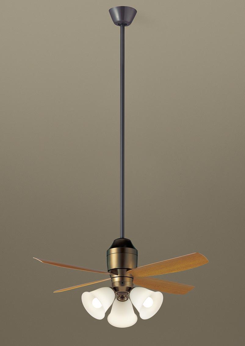 パナソニック照明器具(Panasonic) φ1100mm DCモータータイプシーリングファン(1500mm延長・灯具付)(要電気工事) XS73545K