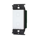 【あす楽対応_関東】パナソニック配線器具(Panasonic) ADVANCE(アドバンス)シリーズ [タッチ] LEDお好み点灯ダブルスイッチ(受信器)(適合LED専用1.2A)(マットホワイト) WTY5322W