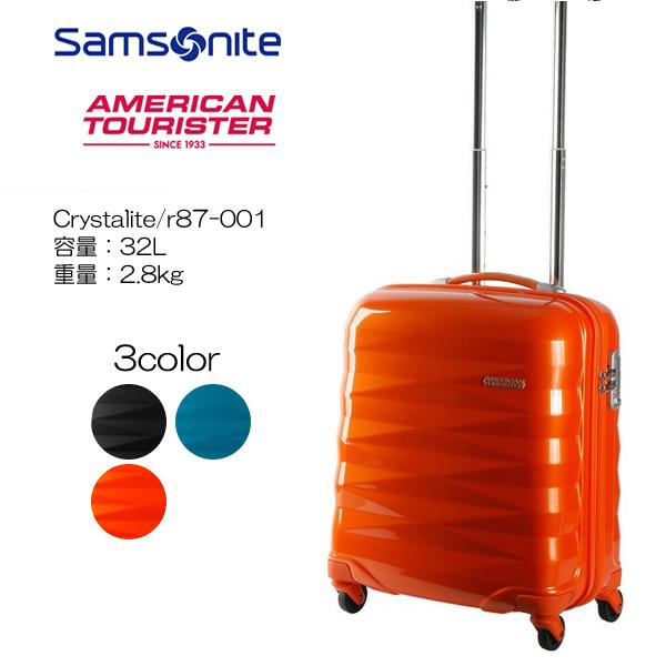 機内持ち込みサイズ 贈与 3年メーカー保証 アメリカンツーリスター Samsonite サムソナイト 重量:2.8kg 容量:32L 50cm Crystalite r87-001 特売