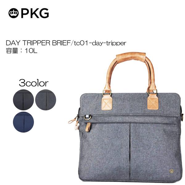 ビジネスバッグ 代理店保証付 PKG ピーケージー オンライン限定商品 DAY 容量:10L BRIEF 特売 TRIPPER 重量:kg tc01-day-tripper