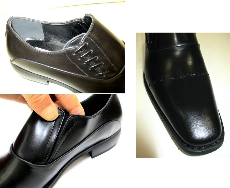 [Premium recover] PREMIUM RECOVA 9901 leather men's shoe business fishers leather black