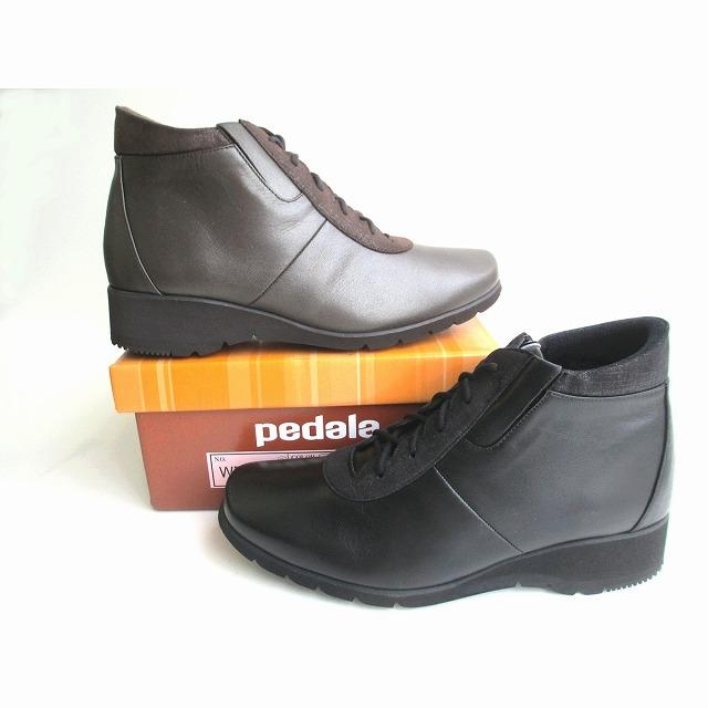 履くほどに愛着が湧く手放せない1足になりそう アシックス ペダラ asics pedala WP485P レディース 革靴 ショートブーツ フラットヒール コンフォート靴 紐靴 レースアップ 旅行靴 日本製 幅広 ブラック(90)・ブロンズ(94)