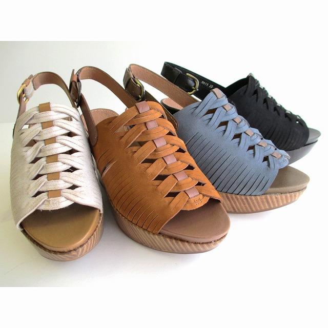 イング ING ing 0113 レディース ウェッジ サンダル 厚底 バックストラップ 天然皮革 通勤靴 仕事靴 ブラック ブルー キャメル ゴールド(ベージュ)