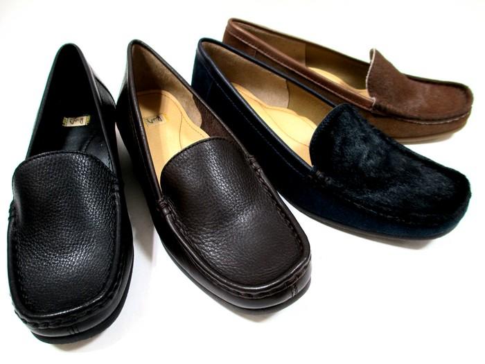 イング ING ing 2015 レディース 革靴 天然皮革 日本製モカシンパンプス リゾート靴 仕事靴 通勤靴 ブラック ダークブラウン ネイビーC キャメルC