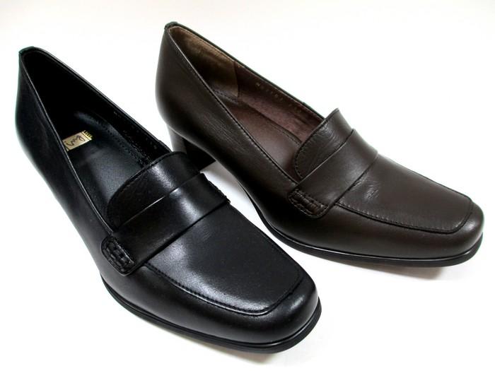 送料無料 イング ING ing 2103 レディース ローファーパンプス 日本製 天然皮革 スクエアトゥ フォーマル 通勤靴 仕事靴 ブラック