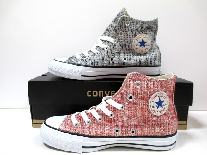 f6986b547424 Converse all-stars converse all-stars tweed ND HI red black CONVERSE ALL  STAR TWEED ND HI Lady s sneakers