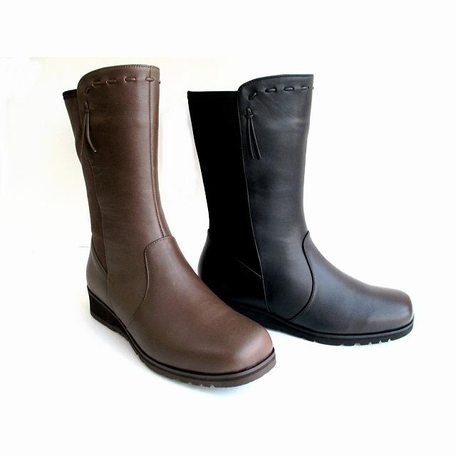 ピサ Pisaz pisaz 1891 レディース 天然皮革 ローウエッジミドルブーツ 防寒靴 通勤靴 ブラック・カーキ
