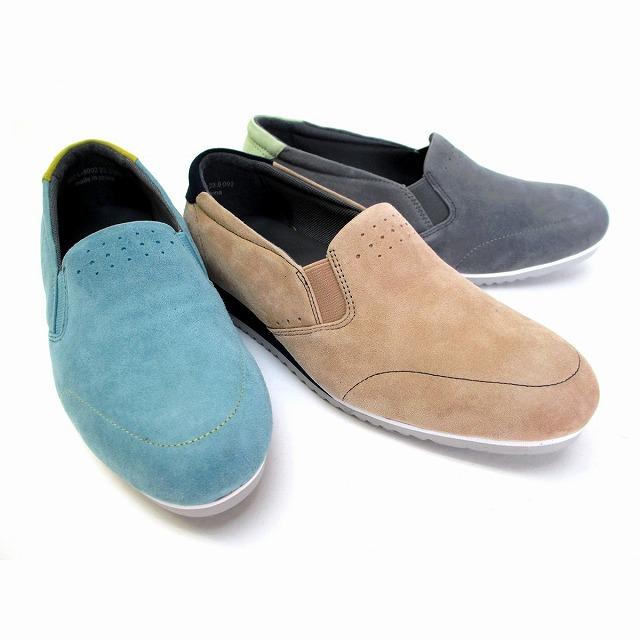 [ハッシュパピー]【履くほどに愛着が湧く、手放せない1足になりそう。】 Hush Puppies L-8002 レディース 天然皮革 ラウンドトゥ スリッポン サイドゴア 仕事靴 旅行靴 グレーコンビ オークコンビ ブルーコンビ