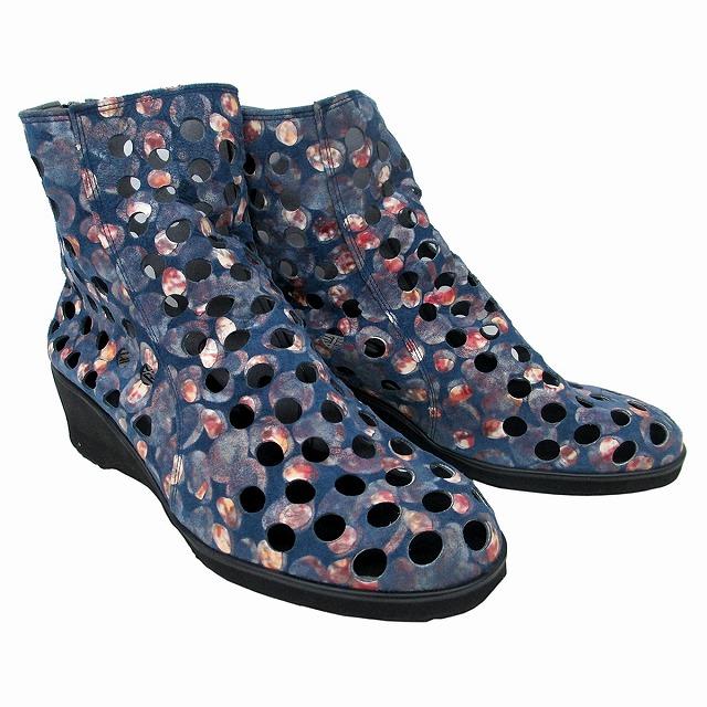 履くほどに愛着が湧く手放せない1足になりそう 送料無料 フィズリーン FIZZ REEN fizzreen 2750 レディース 店舗 カジュアルシューズ ウェッジソール パンチング 大人気 ネイビー サマーブーツ 通勤靴 ファスナー