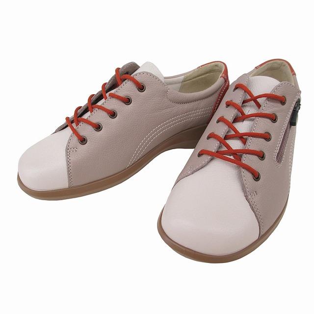 送料無料 Achilles アキレス ソルボ ACHILLES SORBO SRL0520 レディース レースアップウォーキングシューズ コンフォートシューズ フラット ファスナー付 本革 通勤靴 仕事靴 トラベル靴 グレージュ/レンガ