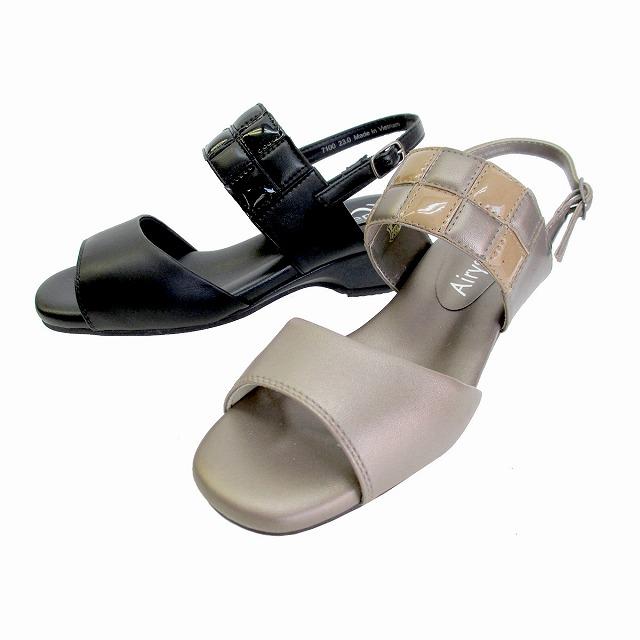 エアリーステップ Airy Step 7100 レディース 天然皮革 レースアップシューズ リゾート靴 ソフトレザー 仕事靴 通勤靴 ブラック オーク