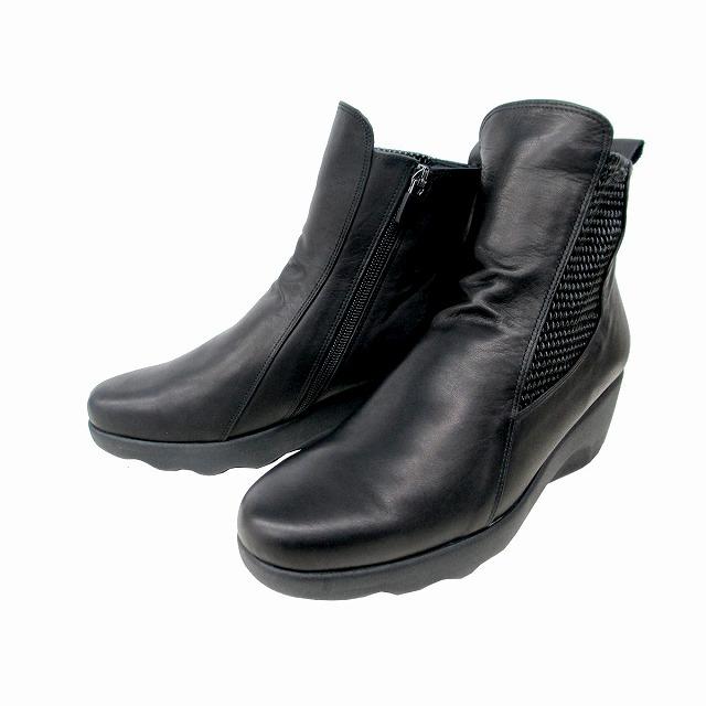 履くほどに愛着が湧く 手放せない1足になりそう 期間限定 値下げ 送料無料 フィズリーン FIZZ REEN fizzreen 通勤靴 ショートブーツ レディース サイドファスナー 1833 サイドゴア ブラック