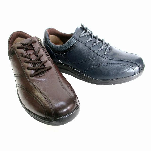 ムーンスター ワールドマーチ MOONSTAR WORLDMARCH WM3118 メンズ ウォーキングシューズ コンフォートシューズ 抗菌防臭 ファスナー付 通勤靴 仕事靴 ブラック ダークブラウン