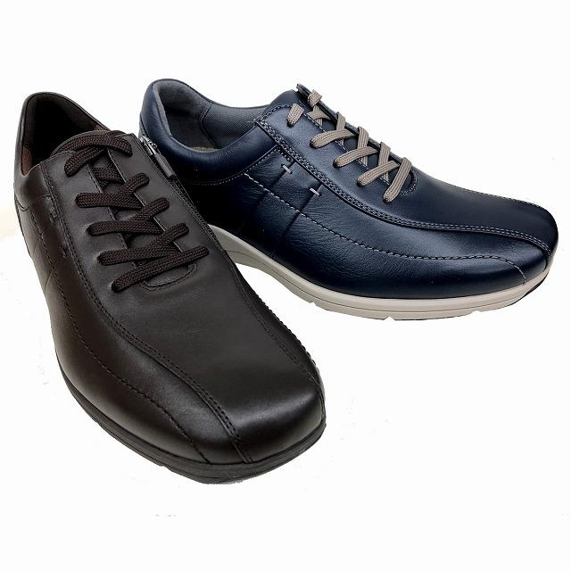 送料無料 アシックスウォーキング ペダラ asics pedala WS306S メンズ ファスナー付きレザースニーカー 内羽根 オブリーク 通勤靴 仕事靴 ネイビーブルー(50) ダークブラウン(28)
