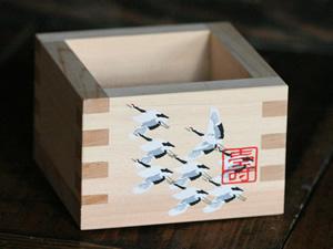 日本全国 送料無料 即日出荷 割引 送料無料 50個セット 鶴のプリント枡