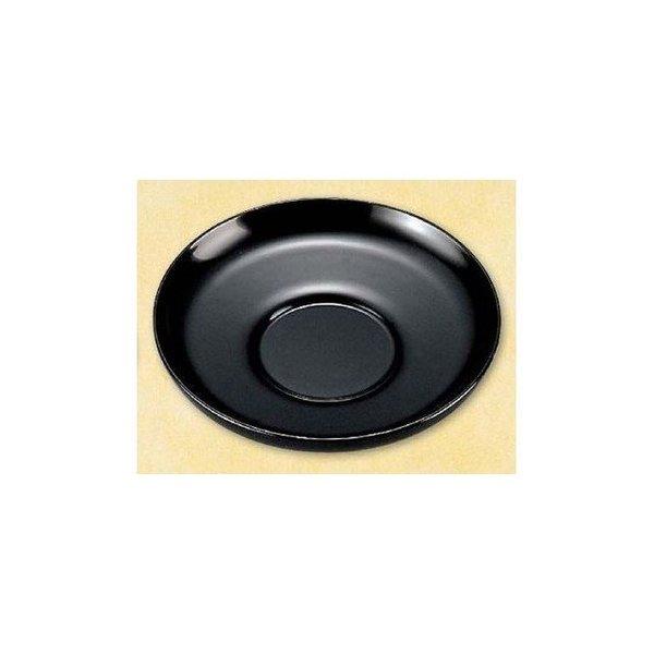 本漆塗り だるま茶托 黒 手塗り漆 新発売 4.2寸 お気に入 コースター ソーサー トレー 皿 プレート トレイ