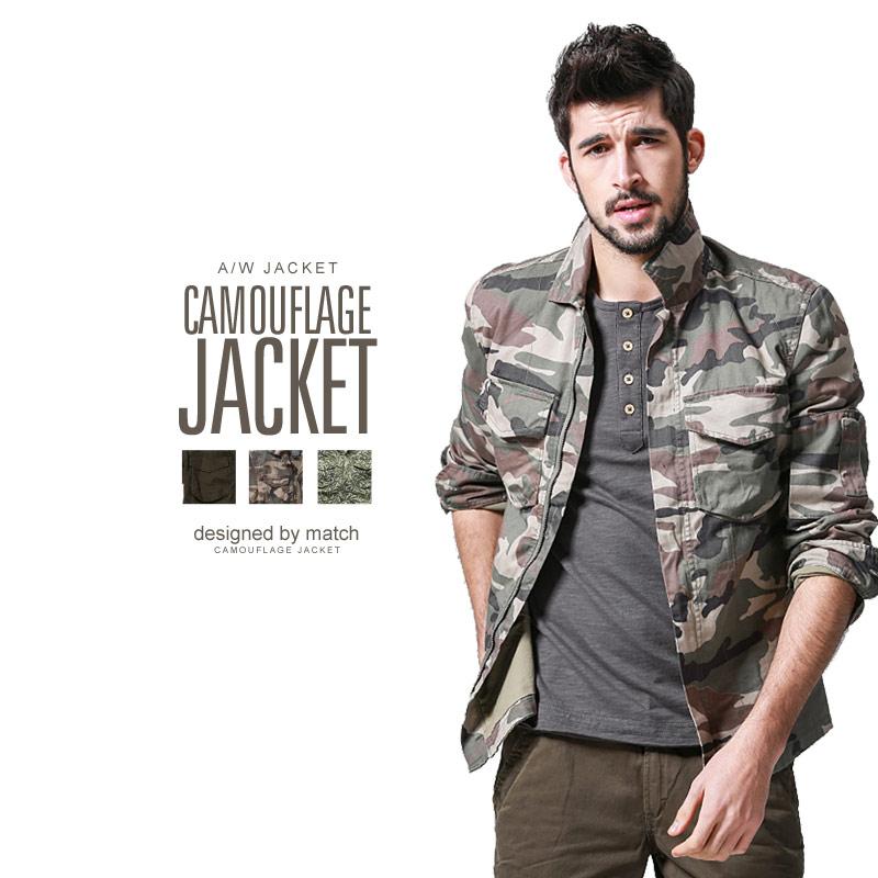 人気 おすすめ ジャケット メンズ スプリング 服 物 迷彩 アーミーグリーン ポイント20倍 送料無料 大きいサイズ コットン ミリタリー MATCH麻吉 春物 ジッパーフロント 大人気 トップス カジュアル アウター メンズファッション