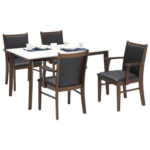 ダイニングテーブルセット ダイニングテーブル ダイニングセット 5点セット ダイニング5点セット 4人用 4人掛け 食卓5点セット 食卓セット 幅135cm 木製 ベーシック シンプル モダン 北欧 民泊 送料無料