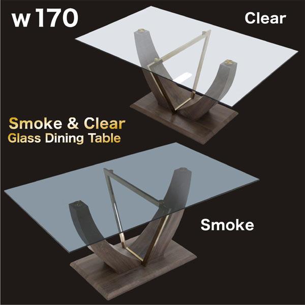 ガラステーブル ダイニングテーブル 食卓テーブル 170 170×100 高さ72cm エレガント モダン スタイリッシュ 北欧 おしゃれ 重圧感 民泊 送料無料