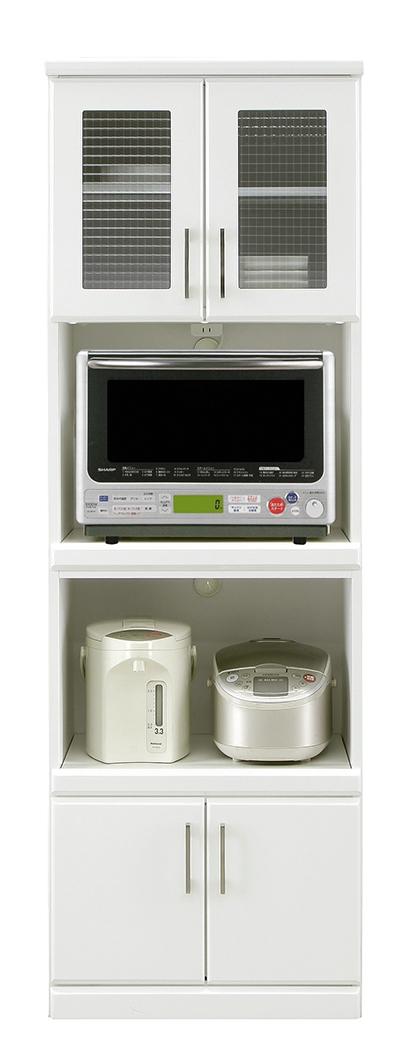 食器棚 キッチン収納 キッチンボード ダイニングボード 完成品 幅60 スリム 北欧 ホワイト モダン おしゃれ 国産 民泊 送料無料