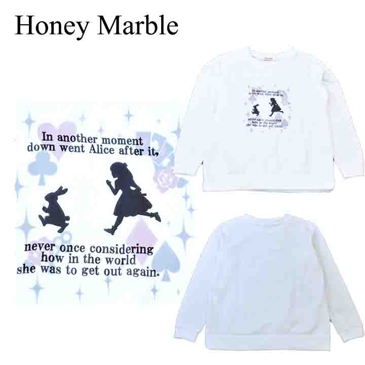 Honey Marble AL完売しました。 裏起毛スウェット メーカー公式ショップ トレーナー Mサイズ レディース