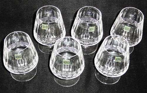 HOYA クリスタル ブランデー6客グラスセット(ゴブレット・脚付きのグラス)※箱なし【送料無料】プレゼント ギフト 贈リ物 セット 新生活