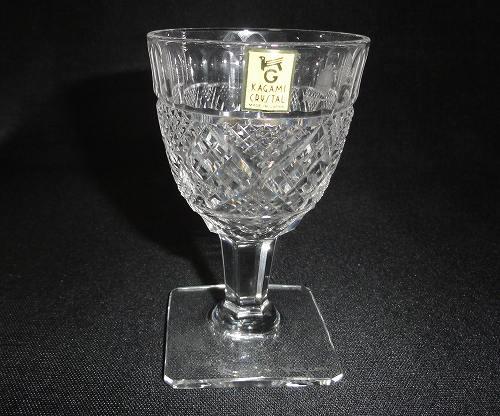カガミクリスタル 角足 切り子 食前酒グラス【送料無料】 プレゼント ギフト 贈リ物 祝 お祝い 記念品
