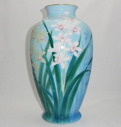 深川製磁 洋らん【花瓶 花器 フラワーベース】※箱なし・代わりのギフト用箱はございます【送料無料】プレゼント ギフト 贈リ物 祝 お祝い 記念品