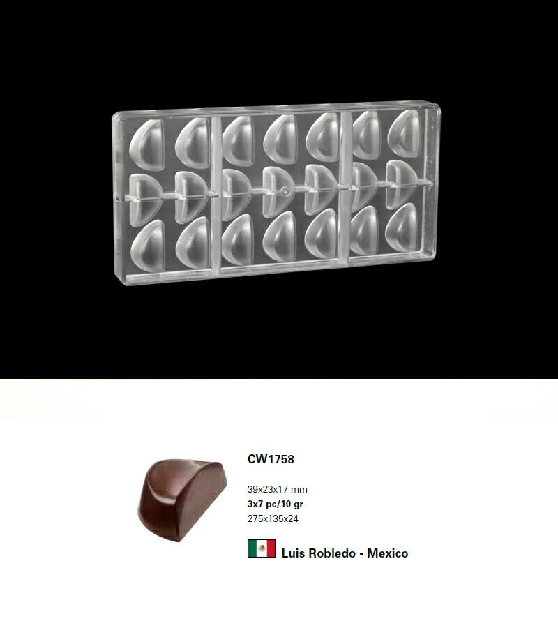 【30%OFF】【チョコレートワールド】CW1758 39x23x17mm/10g 21P