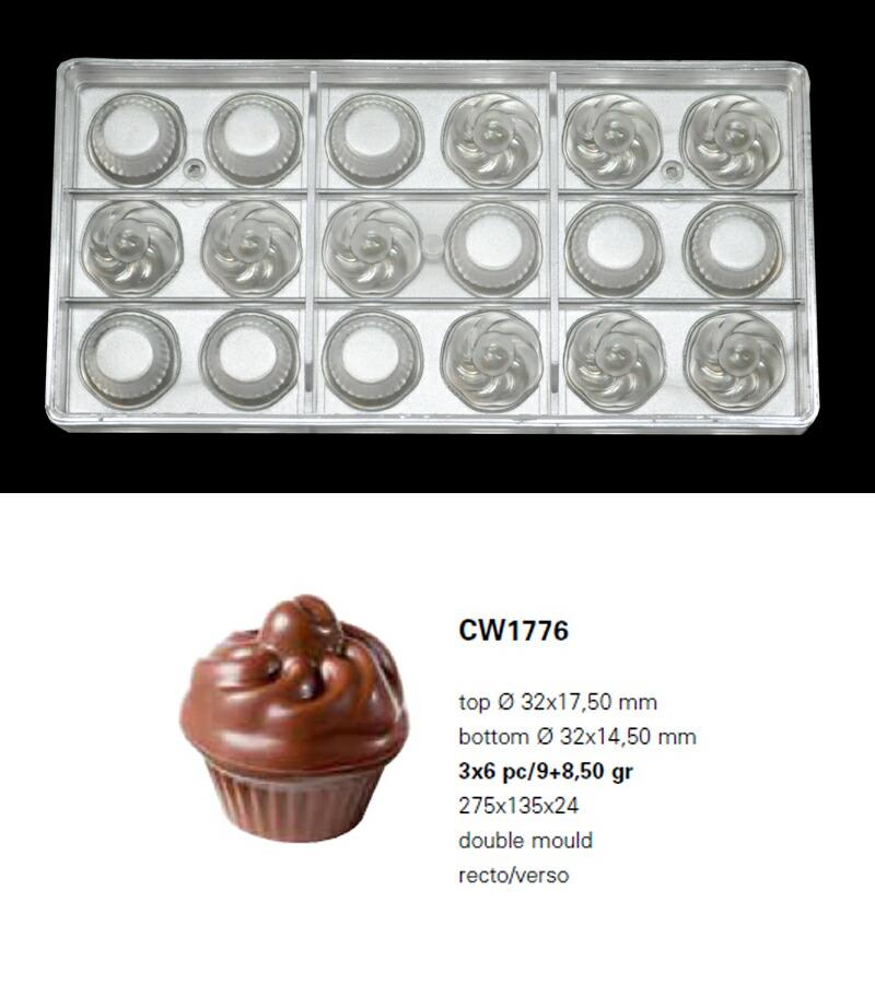 【30%OFF】【チョコレートワールド】CW1776 Φ32×17.50mm/14.50mm 18Pカップケーキ