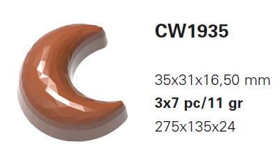 【30%OFF】【チョコレートワールド】CW1935 L35×W31×16.5mm 21P 11g ダイヤモンドムーン