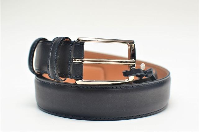 "Felisi "" Leather Belt "" フェリージ "" レザーベルト "" col.BLUE(NAVY)"