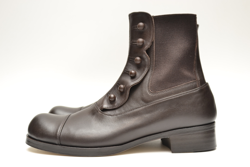 BEAUTIFUL SHOES ビューティフルシューズ BUTTONED SIDEGORE BOOTS レディース col.DARK BROWN