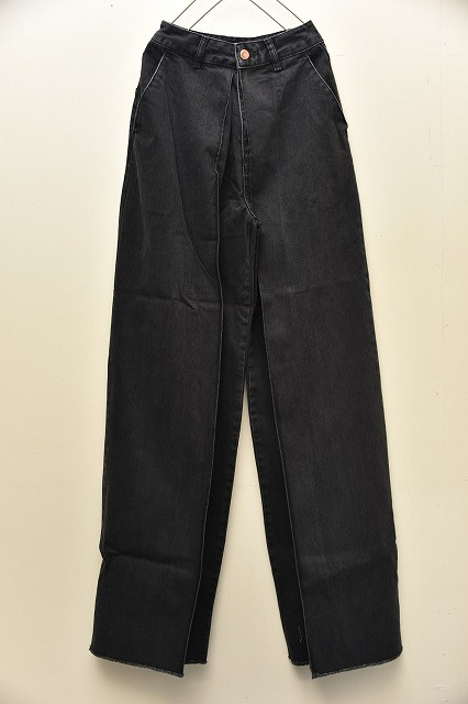 AALTO アールト Jeans With Pleats フロントプリーツ col.BLACK WASHED