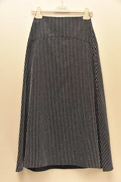 NEHERA ネヘラ SUE skirt light striped cotton silk  col.DARK 青