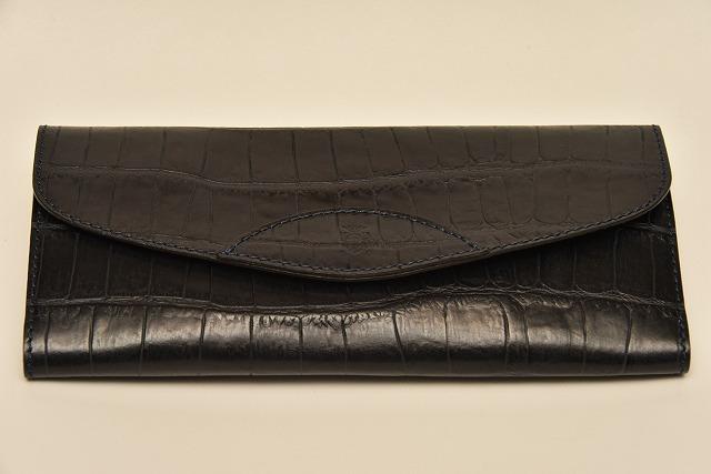 【期間限定 カードケース プレゼント付き】Felisi フェリージ 954/SA フラップタイプ ウォレット エンボスレザー財布 (クロコ型押し)