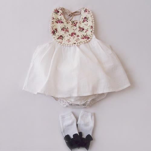 6200a62165262 ワンピースベビーベビーワンピースロンパース夏物チュールシンプル上品ベージュ白かわいいワンピース女の子