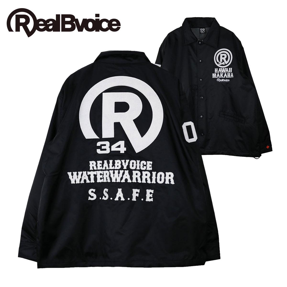 リアルビーボイス RealBvoice 2019 メンズ アウター ナイロンコーチジャケット R MARK 34 FELT NYLON JACKET