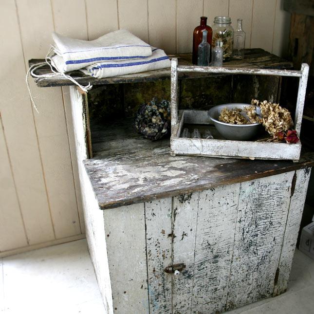 【アメリカンアンティーク】【中古】アンティーク古いシャビーな収納棚