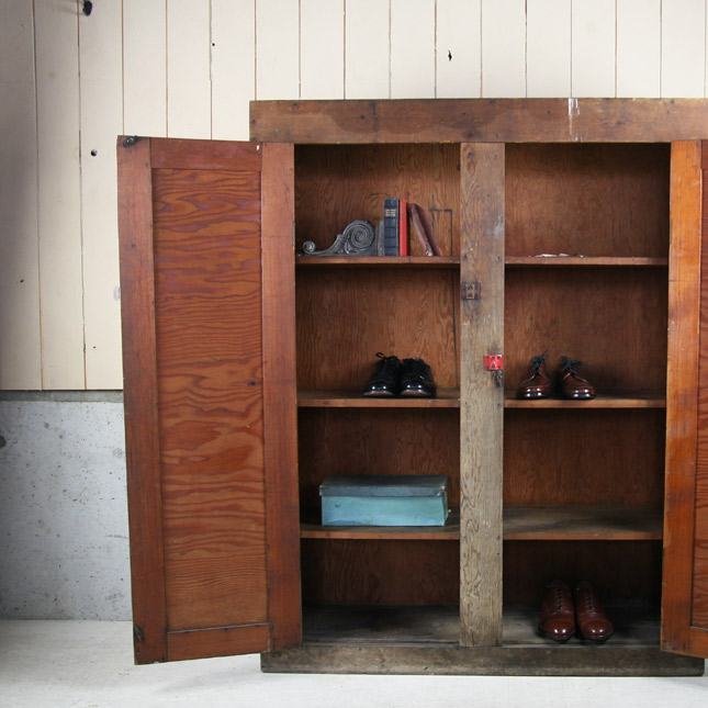 【アメリカンアンティーク】antique shoe rack -古い収納棚-【中古】